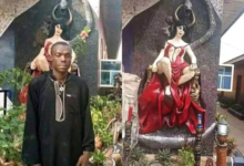 Photo of Abia youths destroy Church of Satan