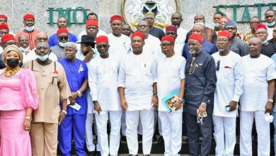 Photo of Ngor Okpala stakeholders meeting with Uzodimma and matters arising