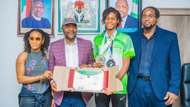 Photo of Sports minister hosts Olympics bound Oshonaike, Anyanacho