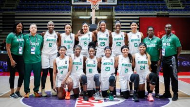 Photo of D'Tigress land in Yaounde for Afrobasket title